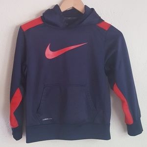 Nike Logo soft Therma Fit Dark Blue Hoodie